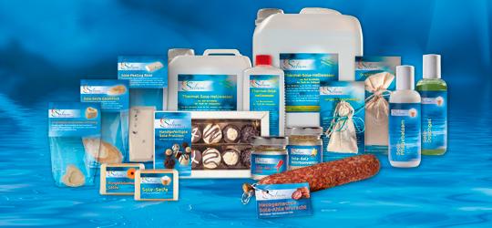 Weser-Therme, Solium-Produkte aus Bad Karlshafener Sole-Salz